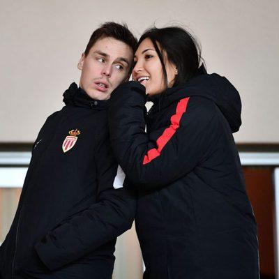 Louis Ducruet y Marie Chevallier, muy cómplices en un partido de fútbol