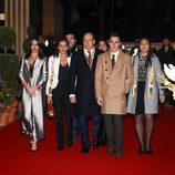 Alberto de Mónaco con Estefanía de Mónaco, Louis Ducruet, Marie Chevallier y Pauline Ducruet en el Festival de Circo de Monte-Carlo 2018