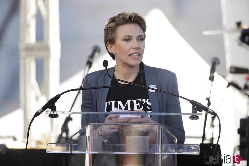 Scarlett Johansson en la Marcha de las Mujeres en Nueva York