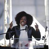 Viola Davis en la Marcha de las Mujeres en Nueva York