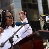 Whoopi Goldberg en la Marcha de las Mujeres de Nueva York
