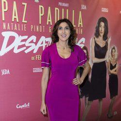 Paz Padilla en el estreno de su nueva obra teatral 'Desatadas'