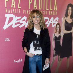 Emma García en el estreno de la obra teatral 'Desatadas'