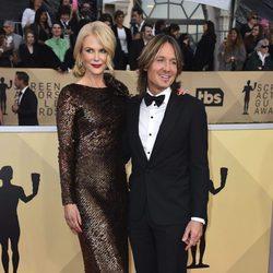 Nicole Kidman y Keith Urban en la alfombra roja de los SAG 2018