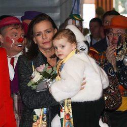 Estefanía de Mónaco y su sobrina Gabriella en el Festival de Circo de Monte-Carlo 2018
