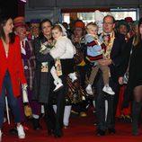 Pauline Ducruet, Estefanía de Mónaco, Gabriella de Mónaco, Alberto de Mónaco, Jacques de Mónaco en el Festival de Circo de Monte-Carlo 2018