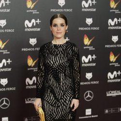 Nuria Gago en la alfombra roja de los Premios Feroz 2018