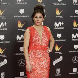 Cristina Medina en la alfombra roja de los Premios Feroz 2018