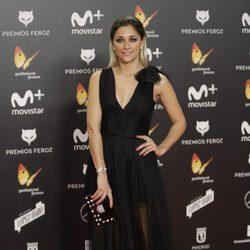 Mariam Hernández en la alfombra roja de los Premios Feroz 2018