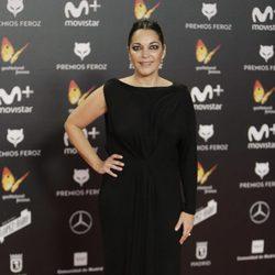 Cristina Plazas en la alfombra roja de los Premios Feroz 2018