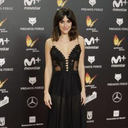 Macarena García en la alfombra roja de los Premios Feroz 2018
