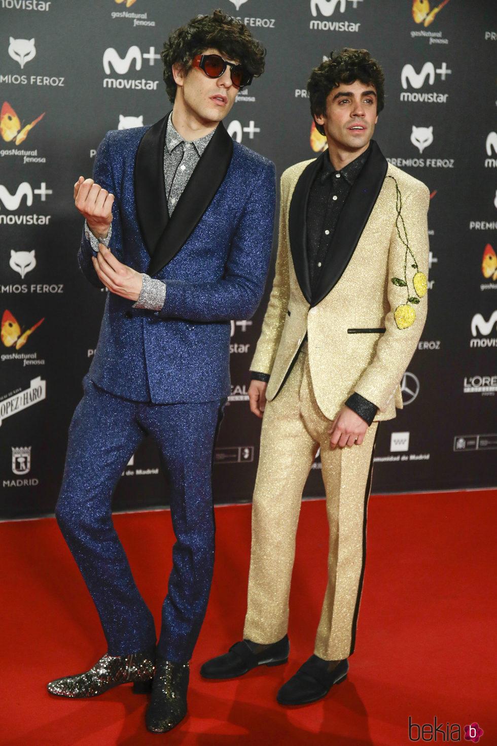 Javier Calvo y Javier Ambrossi en la alfombra roja de los Premios Feroz 2018
