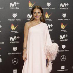 Paula Echevarría en la alfombra roja de los Premios Feroz 2018