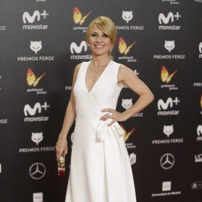 Cayetana Guillén Cuervo en la alfombra roja de los Premios Feroz 2018