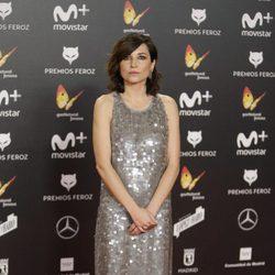 Mariam Álvarez en la alfombra roja de los Premios Feroz 2018