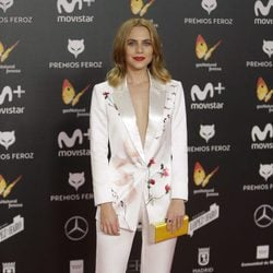 Aura Garrido en la alfombra roja de los Premios Feroz 2018