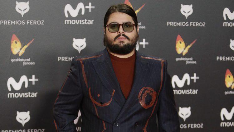 Brays Efe en la alfombra roja de los Premios Feroz 2018