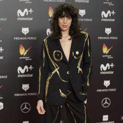 Celia Gómez en la alfombra roja de los Premios Feroz 2018