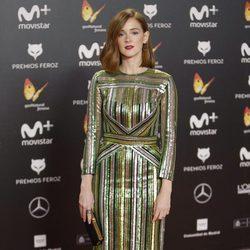 Ana Polvorosa en la alfombra roja de los Premios Feroz 2018