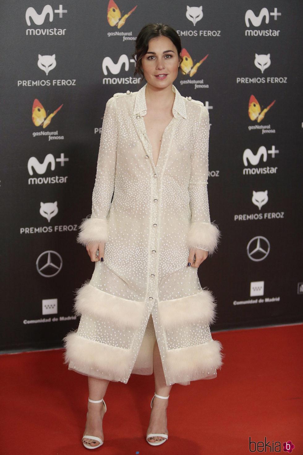 Nadia de Santiago en la alfombra roja de los Premios Feroz 2018