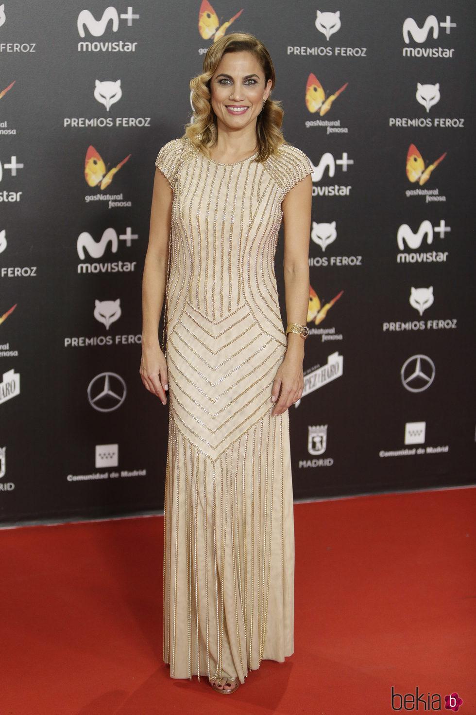 Toni Acosta en la alfombra roja de los Premios Feroz 2018