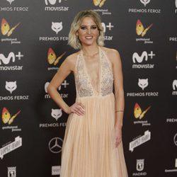 Ana Fernández en la alfombra roja de los Premios Feroz 2018
