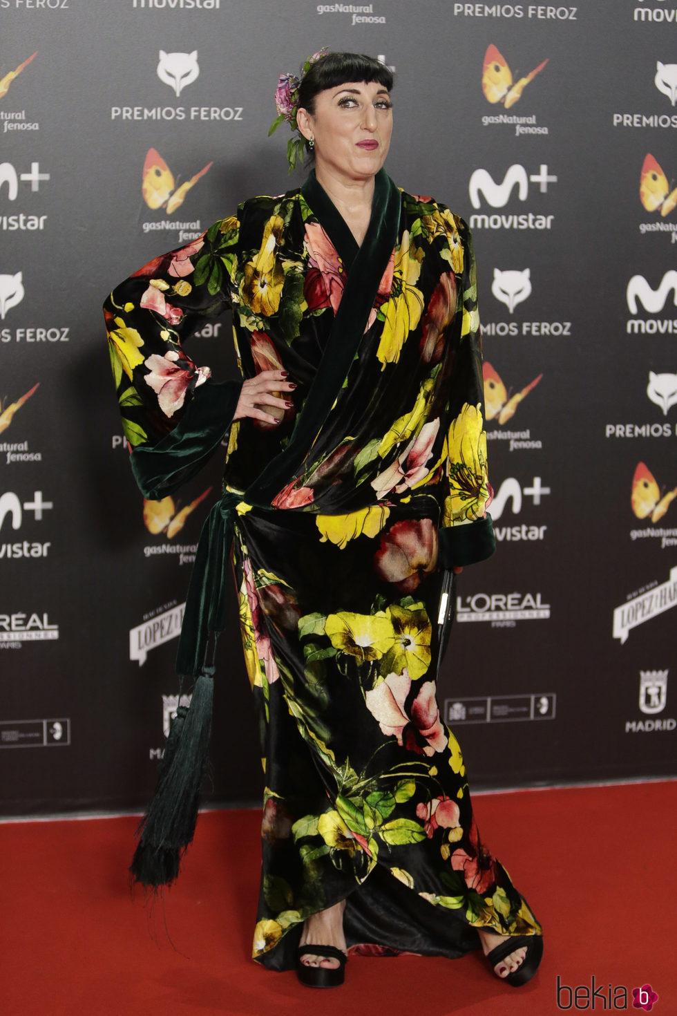 Rossy de Palma en la alfombra roja de los Premios Feroz 2018