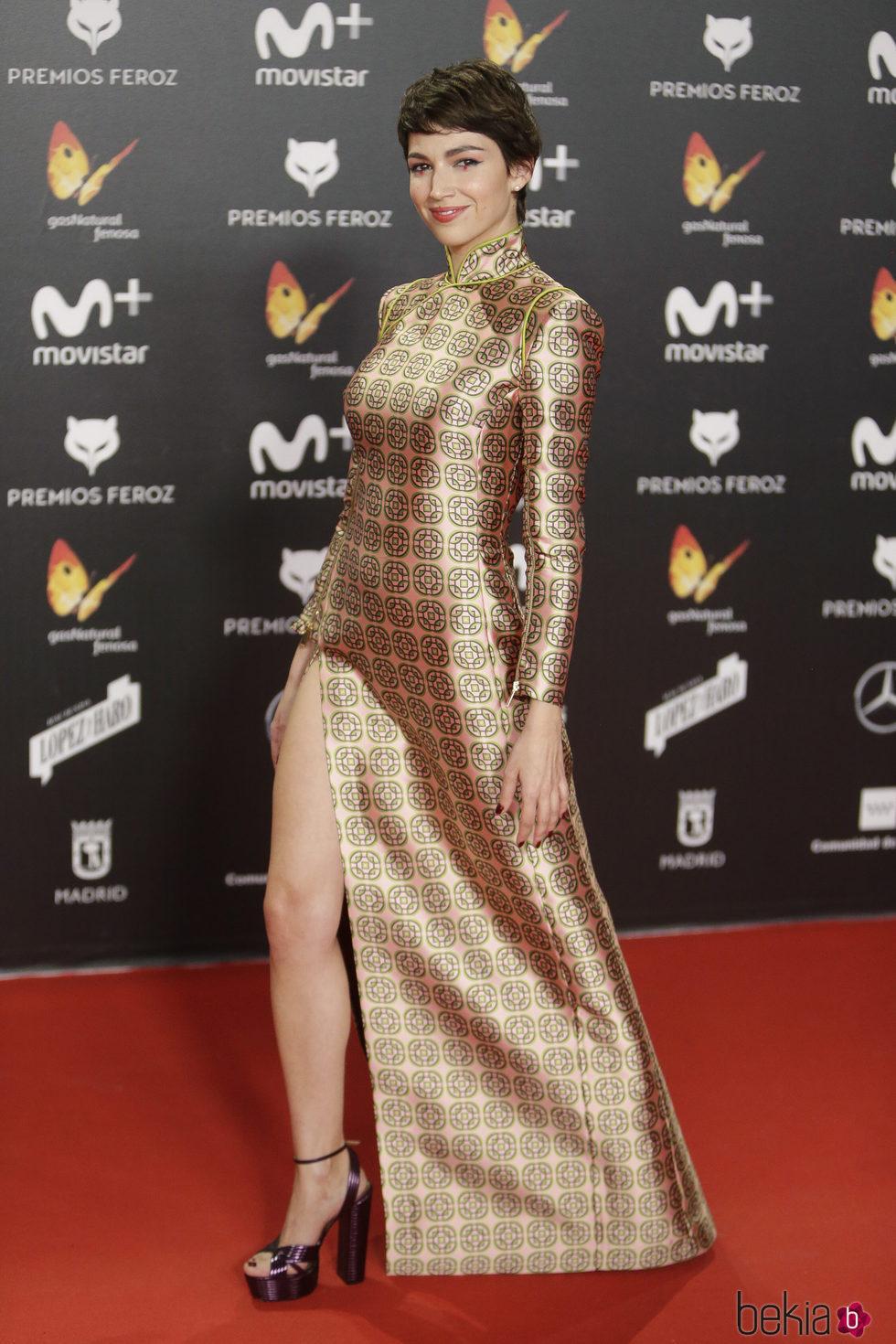 Úrsula Corberó en la alfombra roja de los Premios Feroz 2018