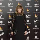 Emma Suárez en la alfombra roja de los Premios Feroz 2018