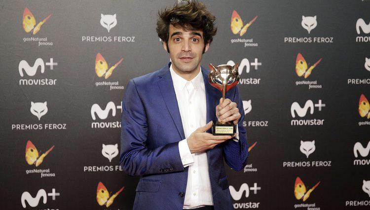 David Verdaguer con su premio Feroz 2018