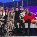 Los concursantes de 'OT 2017' durante la gala 12