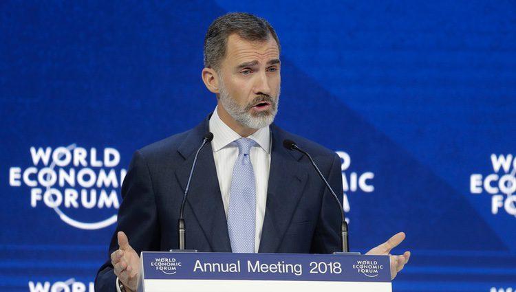 El Rey Felipe en el Foro de Davos-2018