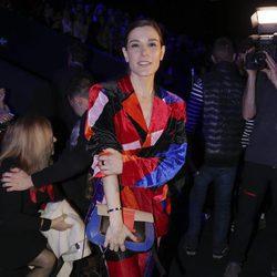 Raquel Sánchez Silva en el desfile de María Escoté en Madrid Fashion Week otoño/invierno 2018/2019