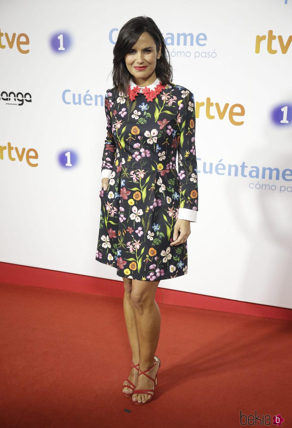 Elena Sánchez en la premier de la 19 temporada de 'Cuéntame'
