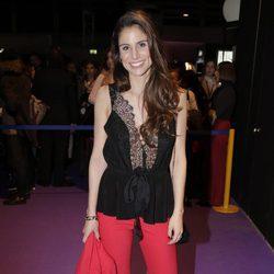 Lucía Villalón en el desfile de Jorge Vázquez en Madrid Fashion Week otoño/invierno 2018/2019