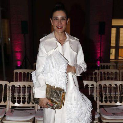 Raquel Sánchez Silva en el desfile de Juan Vidal en Madrid Fashion Week otoño/invierno 2018/2019