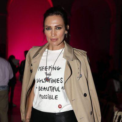 Nieves Álvarez en el desfile de Juan Vidal en Madrid Fashion Week otoño/invierno 2018/2019