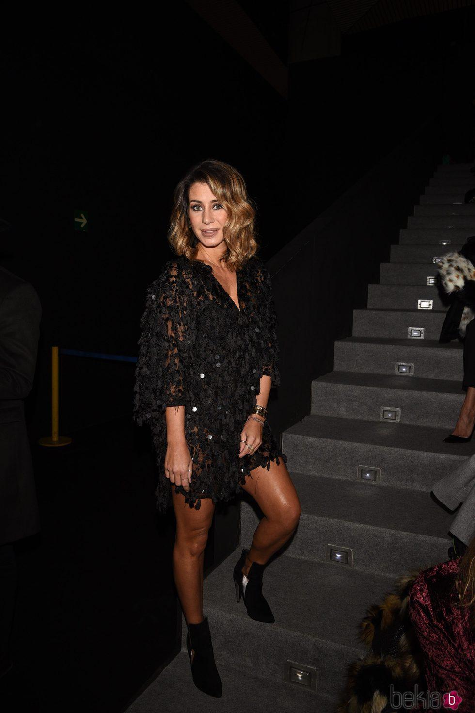 Elena Tablada en el desfile de Hannibal Laguna en Madrid Fashion Week otoño/invierno 2018/2019