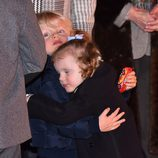 Jacques y Gabriella de Mónaco, dos hermanos muy cariñosos en Santa Devota