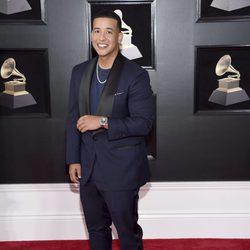 Daddy Yankee en la alfombra roja de los Premios Grammy 2018