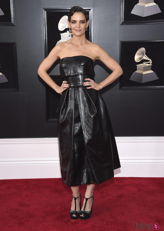Katie Holmes en la alfombra roja de los Premios Grammy 2018
