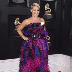 Pink en la alfombra roja de los Premios Grammy 2018