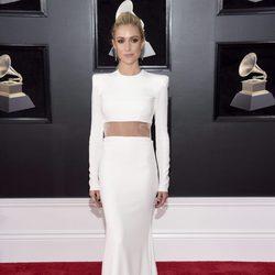 Kristin Cavallari en la alfombra roja de los Premios Grammy 2018