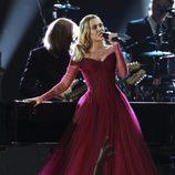 Miley Cyrus durante su actuación en los Premios Grammy 2018
