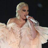 Lady Gaga durante su actuación en los Premios Grammy 2018