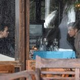 Cristiano Ronaldo y Georgina Rodríguez comiendo en un restaurante de Marbella