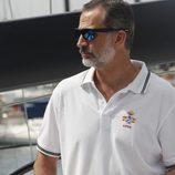 El Rey Felipe durante su participación en la Copa del Rey de Vela