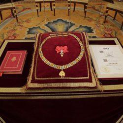 Collar de la Insigne Orden del Toisón de Oro que recibió la Princesa Leonor