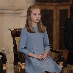 La Princesa Leonor en la ceremonia en la que se le entregó el Toisón de Oro