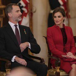 Los Reyes Felipe y Letizia en la entrega del Toisón de Oro a la Princesa Leonor